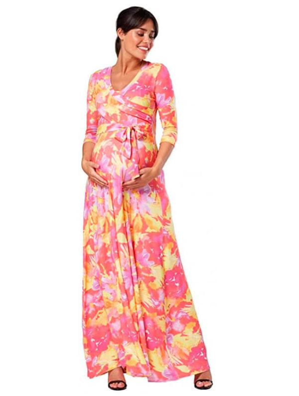 tiendas-de-vestidos-de-noche-para-embarazadas-con-flores