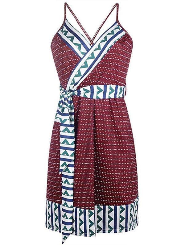 vestido-de-fiesta-para-embarazadas-rojos-con-puntos-blancos