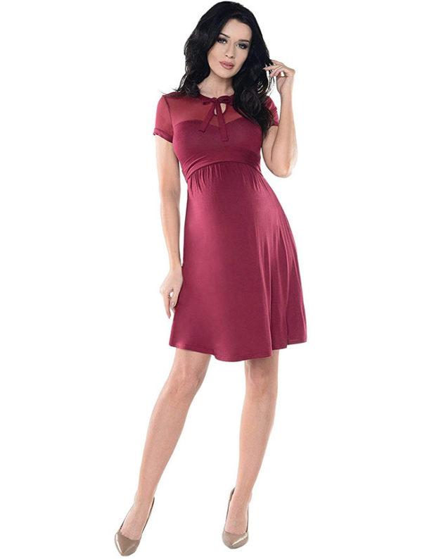vestidos-borgoña-para-embarazadas-2020