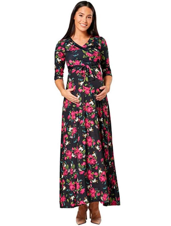 vestidos-con-flores-para-mujeres-embarazadas