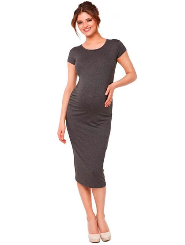 vestidos-de-fiesta-largos-para-embarazadas-grises