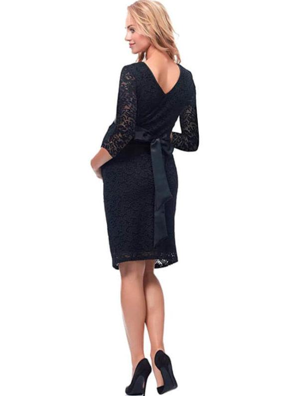 vestidos-de-fiesta-para-embarazadas-2020-negro
