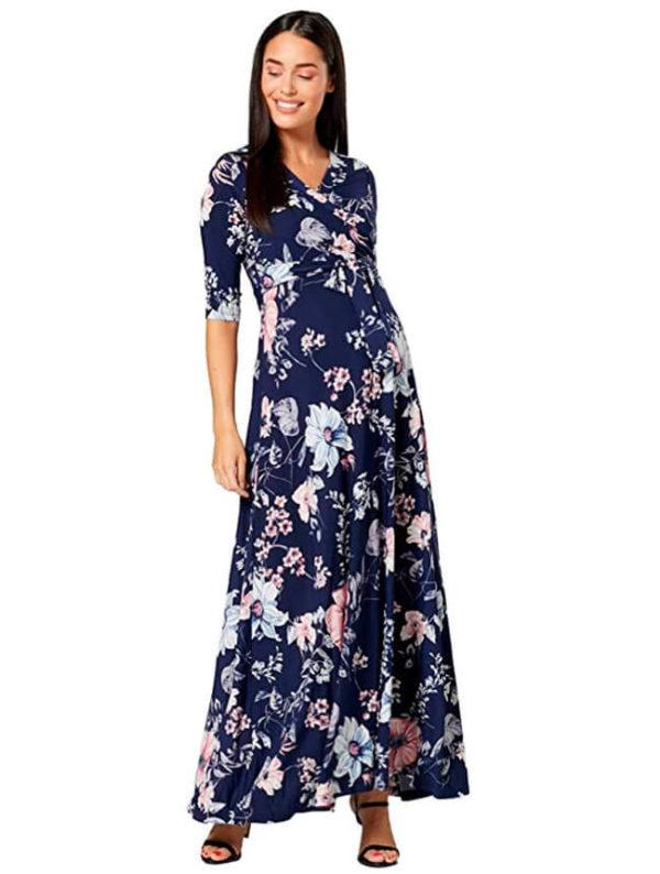 vestidos-de-fiesta-para-embarazadas-con-flores