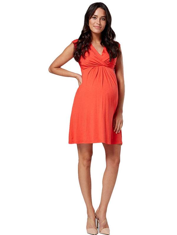 vestidos-de-noche-para-embarazadas-coral