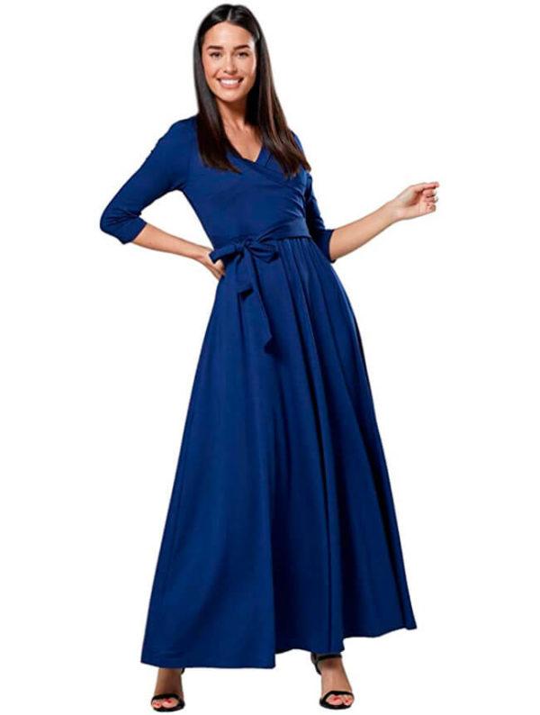 vestidos-de-noche-para-embarazadas-elegantes-azules
