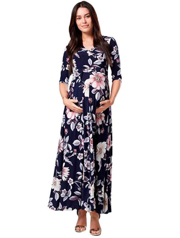 vestidos-embarazadas-fiesta-flores