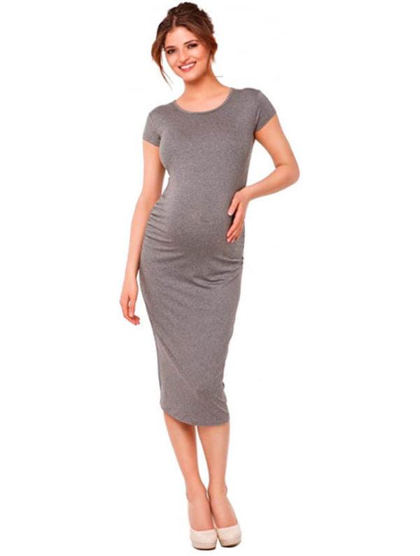 vestidos-grises-para-embarazadas