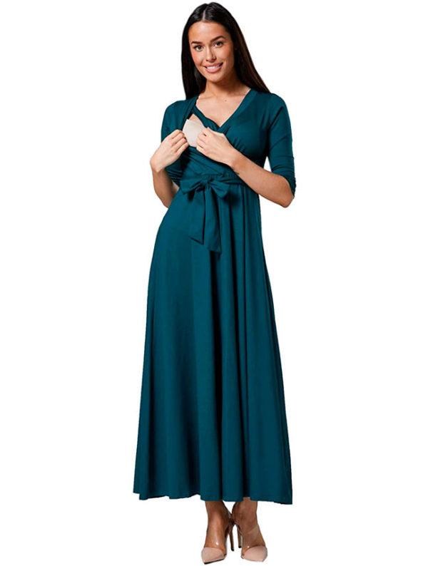 vestidos-lactancia-turquesa