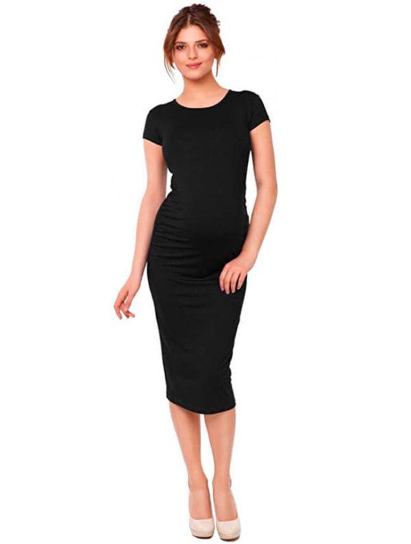 vestidos-modernos-para-embarazadas-negros