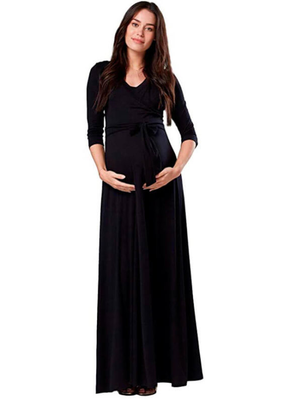 vestidos-negros-para-embarazadas-baby-shower