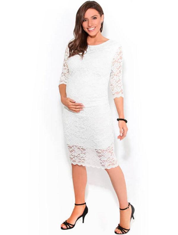 vestidos-para-embarazadas-blancos