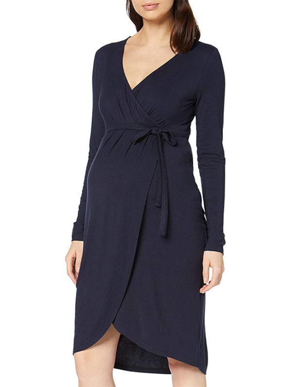 vestidos-para-embarazadas-color-azul