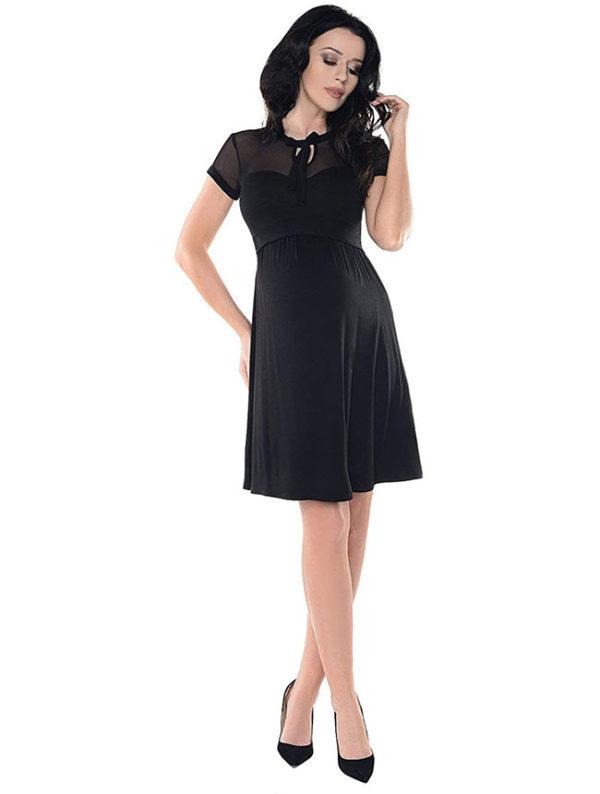 vestidos-para-embarazadas-cortos-negros