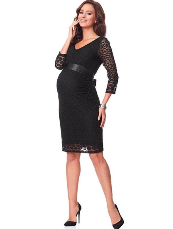 vestidos-para-embarazadas-de-fiesta-negro
