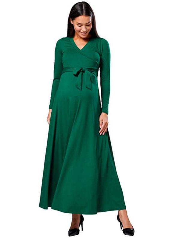vestidos-para-embarazadas-de-fiesta-verde