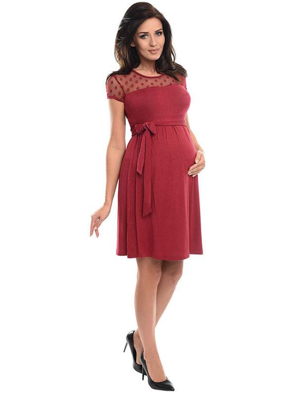 vestidos-para-embarazadas-jovenes-borgoña