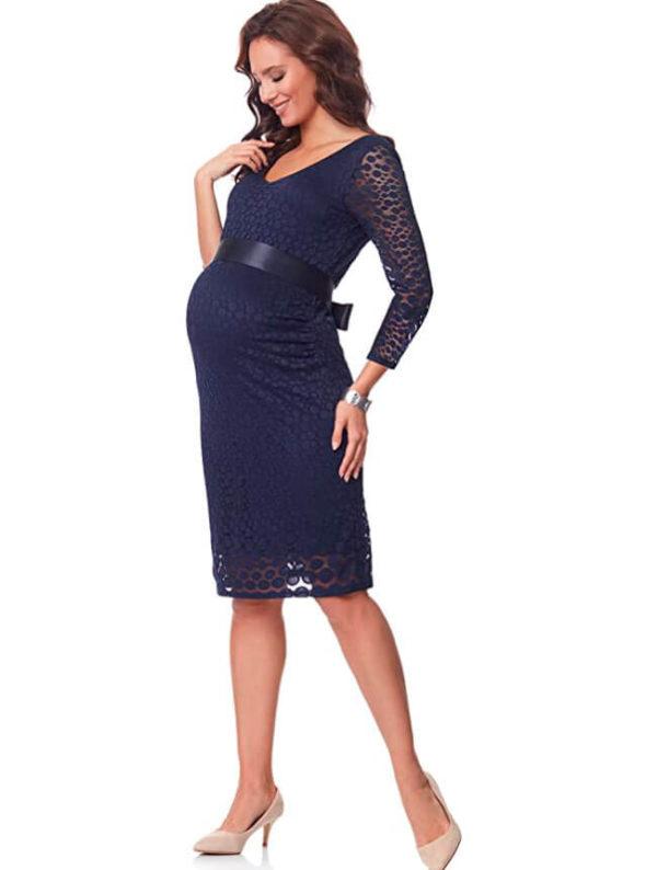 vestidos-para-embarazadas-largos-azul