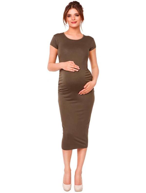 vestidos-para-embarazadas-marrones