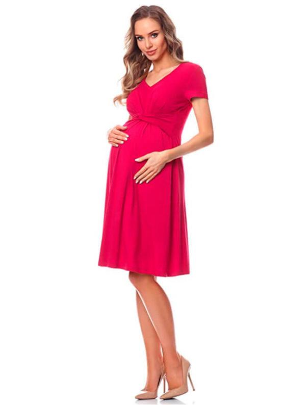 vestidos-para-embarazadas-verano-rosa
