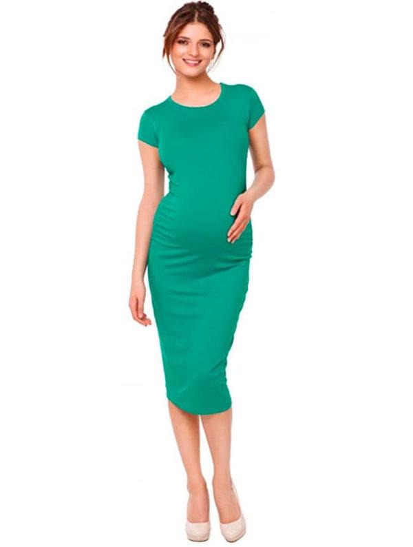 vestidos-pegados-para-embarazadas-verdes