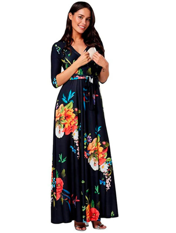 vestimenta-durante-el-embarazo-con-flores